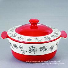 A venda quente Facotry fez a terrina cerâmica da faiança