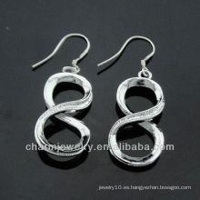 Venta al por mayor 2013 pendientes calientes ESA-003 de la plata de la venta del pendiente de la manera de China