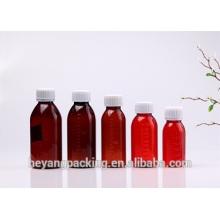 Tipos de capacidade frasco de medicina âmbar