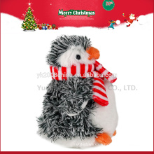 Nuevos juguetes para Navidad 2016, juguetes de pingüino de peluche navideños personalizados ICTI auditados