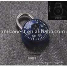 compass decorated padlock