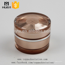 luxury rose golden acrylic cosmetic jar 30ml for sale
