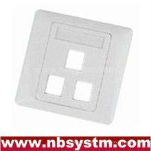 Plaque de vis à 3 orifices, taille: 86x86mm