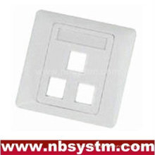 3 port Face Plate , size:86x86mm