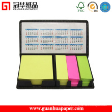 Neon Paper Sticky Note Pad with PU Holder and Calendar
