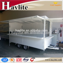 Mobile fast food kiosk trailer