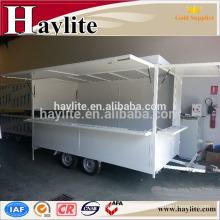 Mobile fast food kiosk trailer