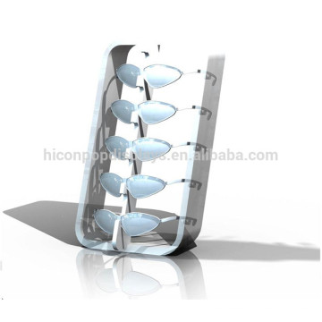 5 Paar Sonnenbrillen Rack Rendering Free Design Arbeitsplatte Licht Holz Slant Rayban Sunglass Display