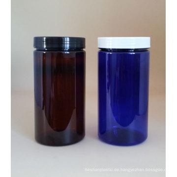 Hohe Qualität 1000g Blau Jar Pet Jar Kunststoff Glas