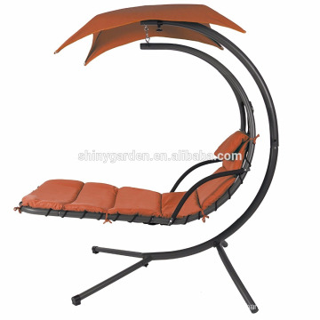 Hanging Chaise Lounger Chair Outdoor Swing Hammock Chair Canopy