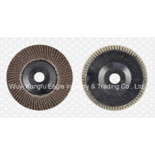 4.5 ′ ′ Discos abrasivos de aba de óxido de calcinação (tampa plástica 24 * 15mm)
