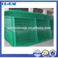 Barrière de treillis métallique de sécurité en acier enduit de poudre verte