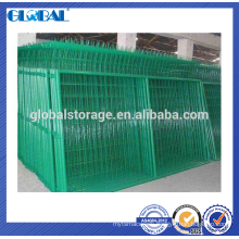 Green Powder coated highway steel security wire mesh fence