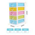 Durable colorful plastic 4-layer mini drawer organization home storage for sale