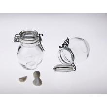 Bocal en verre transparent étanche à l'humidité avec couvercle pour le stockage des aliments