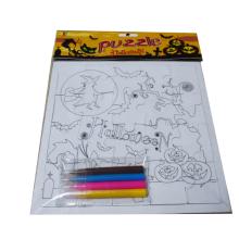 3D peinture bricolage éducatif puzzle jeux pour enfants papier puzzle