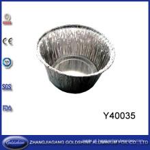 Boa Qualidade e Serviço Pan Rodada Descartável Da Folha De Alumínio