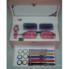 Watch & Changeable Straps with Sunglasses Set