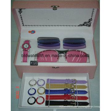 Часы и сменные ремешки с солнцезащитные очки набор