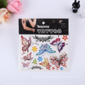 Venta al por mayor Piel temporal Diseños de pegatinas seguros Volver completo Mariposa temporal tatuaje de etiqueta