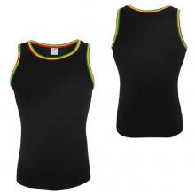 Camiseta de hombre negro de compresión de Wholesle PRO Tops sin mangas