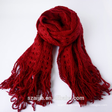 Ladies nuevo diseño de acrílico de punto bufanda / mantón