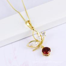 2014 nueva joyería de piedra de la manera del collar de la CZ del diseño