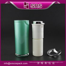 SRS China cosmetic free samples empty container airless pump bottle for serum