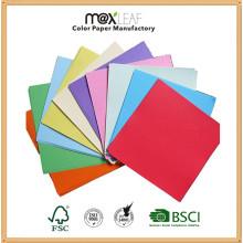 5 пастельных тонов Цветная бумага для упаковки бумаги с офсетной бумагой с древесной пульпой