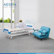 AG-BMS002B pas cher en gros 3 fonctions manuel manivelle meubles réglables patient médical fowler lit d'hôpital prix fournitures