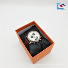Caja de envoltura de regalo de papel a todo color de la impresión personalizada de los proveedores chinos para el reloj