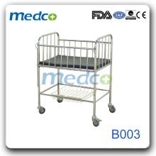 Edelstahl bewegliche Krankenhaus Babybett B003