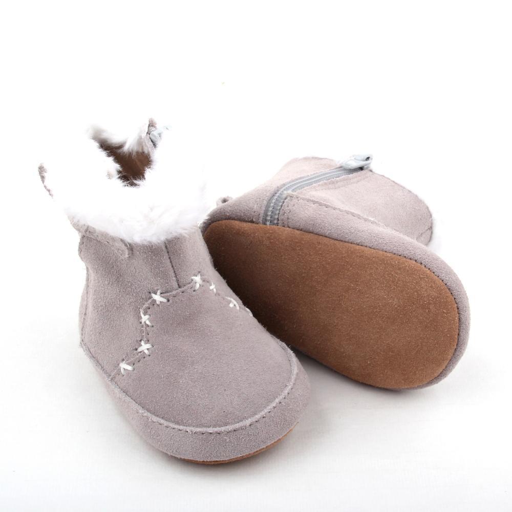 2018 Wholesale Winter Plush Newborn Baby Half Boots