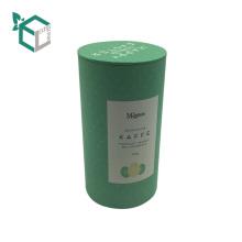 barato tubo de papel reciclado sellado personalizado del café de Kraft que empaqueta cajas del té