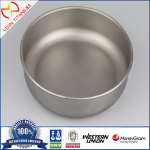 Outdoor Portable Healthy Nontoxic Pure Titanium Bowl