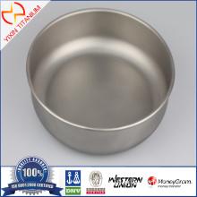 Outdoor Portable Healthy Nontoxic Pure Titanium Bowl