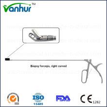 Instrumentos Sigmoidoscopio y Rectoscopia Pinzas de biopsia curvada derecha