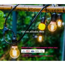Luces para decoración de patio Iluminación de cadena colgante de 48 pies con 15 tomas sueltas, cable de extensión de 10 pies SLT-171