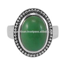 Schöner Chrysoprase Edelstein 925 Solid Silber Ring