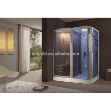 K-704 Indoor sauna bath complete steam shower room with whirlpool bathtub