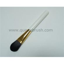 Custom Logo White Wood Handle Foundation Brush