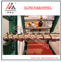 cool feeding rubber screw and barrel different design screw structure