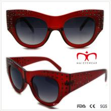 Plástico señoras especiales gafas de sol en forma de diamante de imitación (wsp508363)