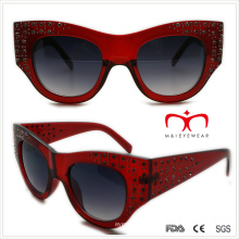 Plástico senhoras especiais em forma de óculos de sol com strass (wsp508363)