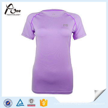 Fashion Fitness T Shirt Women Fitted Blank Gym Wear
