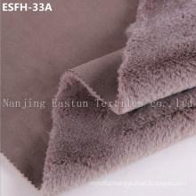 Plain Col Suede Bonded Faux Fur Esfh-33A
