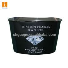 Compteur de promotion en gros en aluminium, compteur de table de promotion de panneau d'ABS