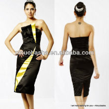 NW-346 Black and Yellow Celebrity Red Carpet Dress