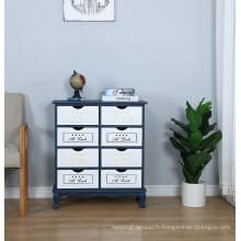 Nouveau design Cabinet de tiroir de rangement à 8 tiroirs pour meubles de maison
