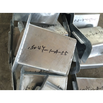Piezas de la fabricación de metal galvanizada INMERSIÓN caliente del OEM para la escalera externa de la construcción